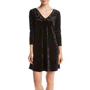 V-Neck Swing Dress Velvet-Knit Medium NWT